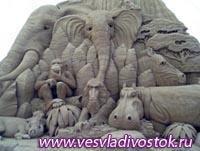 Фестиваль песчаных скульптур на пляжах в Британии